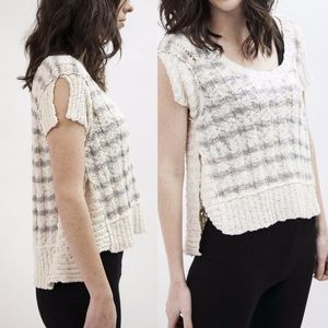 Striped rib knit sweater tee by Free People